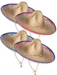 Chapéu de palha mexicano para adulto cor aleatória