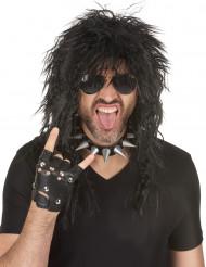Peruca hard rock para homem Halloween