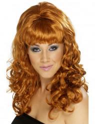 Longa peruca acobreada mulher