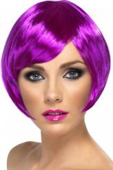 Peruca curta violeta mulher