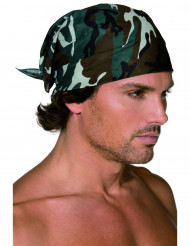 Bandana com camuflado militar para adulto