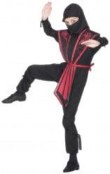 Disfarce de ninja armadura vermelha para rapaz