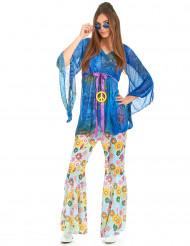 Disfarce flower power hippie para mulher