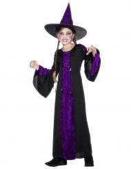 Disfarce bruxa menina de Halloween
