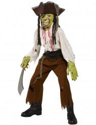 Disfarce de monstro pirata Halloween para rapaz