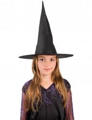 Chapéu de Halloween preto bruxa para criança