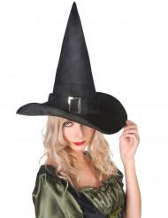 Chapéu de Halloween de bruxa em veludo
