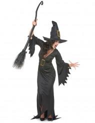 Disfarce comprido bruxa mulher Halloween