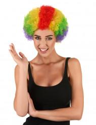 Peruca Afro de várias cores de Palhaço para adulto
