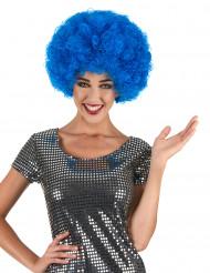 Peruca afro azul confort adulto