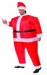 Disfarce de pai Natal insuflável para homem