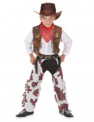 Fantasia cowboy de luxo rapaz