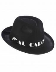 Chapéu borsalino Al Capone preto adulto