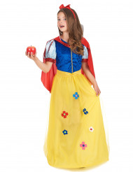 Disfarce de princesa com flor menina