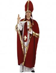 Disfarce de Papa vermelho e branco para homem