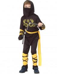 Disfarce de ninja menino