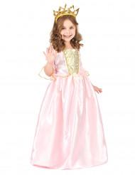 Disfarce de princesa com diadema menina