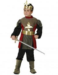 Disfarce de cavaleiro medieval Menino