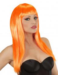 Peruca glamour cor-de-laranja mulher