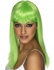 Peruca glamour verde fluo mulher