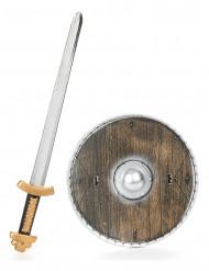 Conjunto de viking madeira para criança