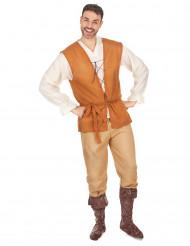 Disfarce camponês medieval homem