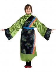 Disfarce chinesa verde menina