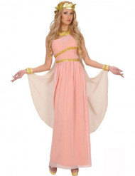 Disfarce deusa grega cor-de-rosa mulher