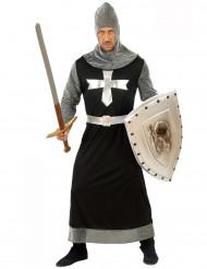 Disfarce de cavaleiro medieval homem