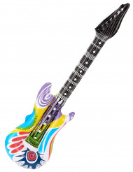 Guitara rock insuflável sarapintada