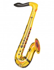 Saxofone insuflável amarelo