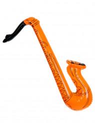 Saxofone insuflável cor-de-laranja