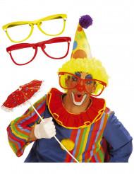 Óculos de palhaço gigantes para adulto