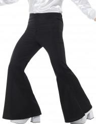 Calças pretas de estilo ?disco? para homem