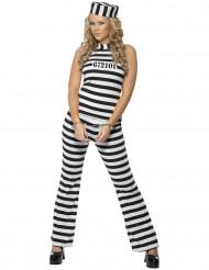 Disfarce de prisioneira mulher