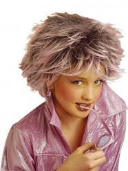 Peruca madeixas lilás menina