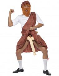 Disfarce humorístico escocês homem