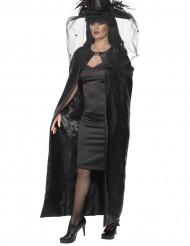 Capa bruxa preta adulto Halloween