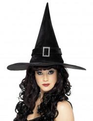 Chapéu bruxa preto mulher Halloween
