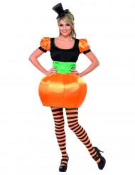 Disfarce abóbora mulher Halloween