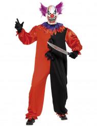 Disfarce de palhaço terrorizante Halloween adulto