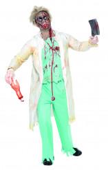 Disfarce doctor zombie Halloween homem