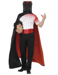 Disfarce vampiro sem cabeça adulto Halloween