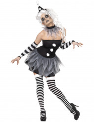 Disfarce Pierrot sexy mulher