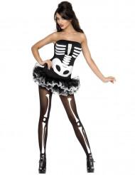 Disfarce esqueleto mulher Halloween sexy