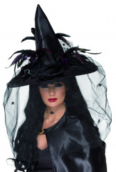 Chapéu de feiticeira de luxo adulto Halloween