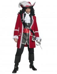 Disfarce de capitão pirata para homem