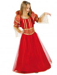Disfarce de Rainha medieval menina