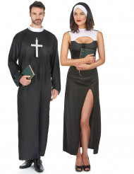 Disfarce de casal freira e padre