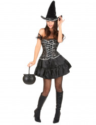Disfarce bruxa sexy com corpete mulher Halloween